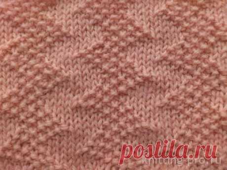 Вязание спицами - узоры спицами из лицевых и изнаночных петель