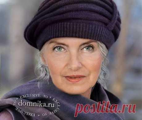 Простая вязаная шапка для пожилых женщин старше 60 лет на осень 2020 года
