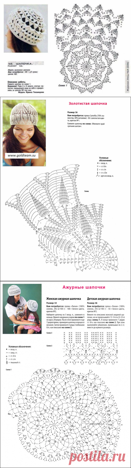Вяжем панамки, шапочки и шляпки на лето, 30 схем крючком | Повязушки лайф | Яндекс Дзен