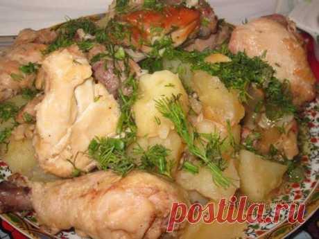 Курица с картошкой в банке - Простые рецепты Овкусе.ру