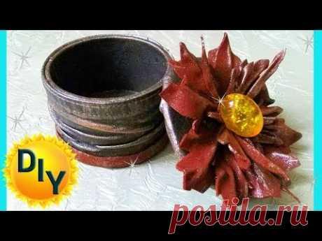 Шкатулка из кожи своими руками на канале DIY/рукоделие