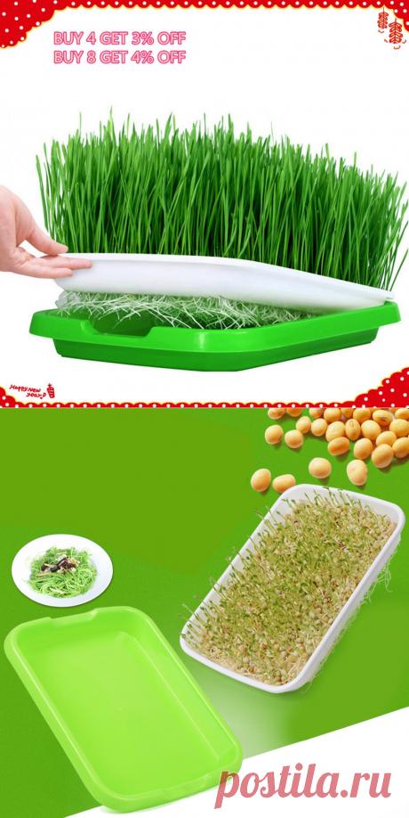 VICTMAX 5 комплектов двухслойный Sprouter лоток питомник Гидропоника Корзина цветок завод поддон для проращивания коробка зеленый + белый купить на AliExpress
