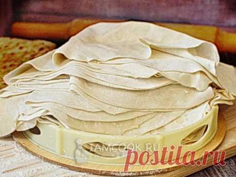 Тесто «Юфка» — рецепт с фото Это турецкое тесто подходит для изготовления лепешек