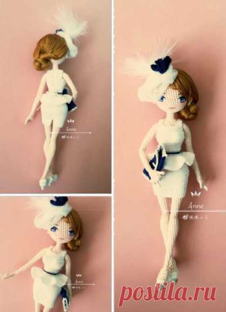 вязаная куколка Энни