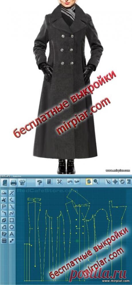 Классическое женское двубортное пальто. Готовые бесплатные выкройки в натуральную величину free pattern, пальто, выкройка пальто, pattern sewing, coat, выкройки скачать, готовые выкройки, шитье, выкройки в натуральную величину, скачать