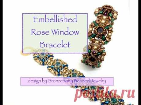 *Embellished Rose Window Bracelet