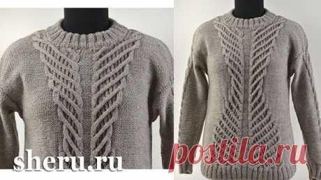 Связанный свитер женский схемы и видео урок | Модель свитер №154