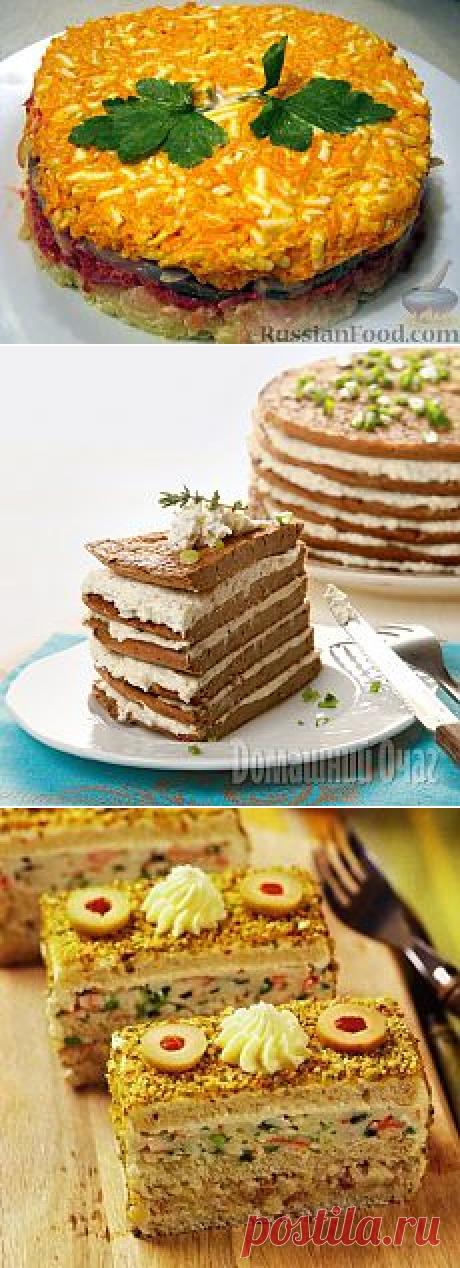 ЗАКУСОЧНЫЕ ТОРТЫ | Мария Селезнева | Рецепты простой и вкусной еды на Постиле