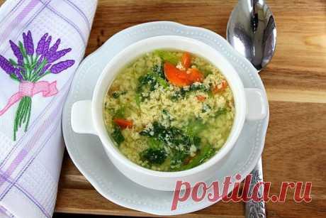 """Итальянский яичный суп """"Страчателла"""""""