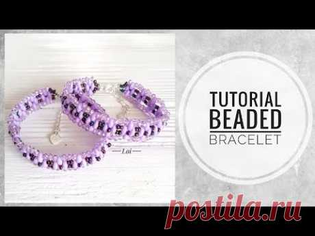#МК - Браслет с использованием твина   #Tutorial - Beaded bracelet and twin