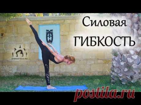 Активная силовая ГИБКОСТЬ в ПОТОКЕ / Раскрытие тазобедренных суставов + Растяжка ног