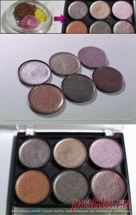 La creación paletki de las sombras en las condiciones de casa de Tammi Tanuka \/ el Maquillaje\/manicura \/ el sitio A la moda sobre el rehacimiento de estilo de la ropa y el interior