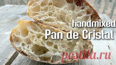PAN DE CRISTAL - 106% hydration, sourdough, handmixed (full recipe & method) | by JoyRideCoffee Sourdogh Cristal Bread (very high hydration bread), mixed by hand is always a big challenge. Sometimes it may seem like an impossible mission. So delicate sp...