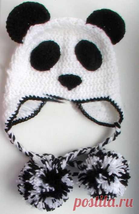 Шапка Панда крючком - схема вязания и описание Кому не понравится забавная и милая шапка в виде симпатичной пандочки, связанная со всей любвью и заботой по схеме с описанием?
