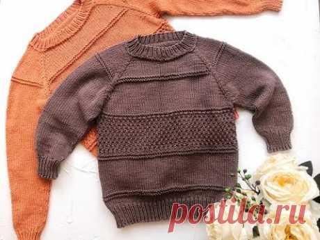 Подробный мк детского свитера регланом сверху с расчетами на все размеры
