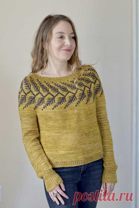 Пуловер с жаккардовой кокеткой Forestland - Вяжи.ру