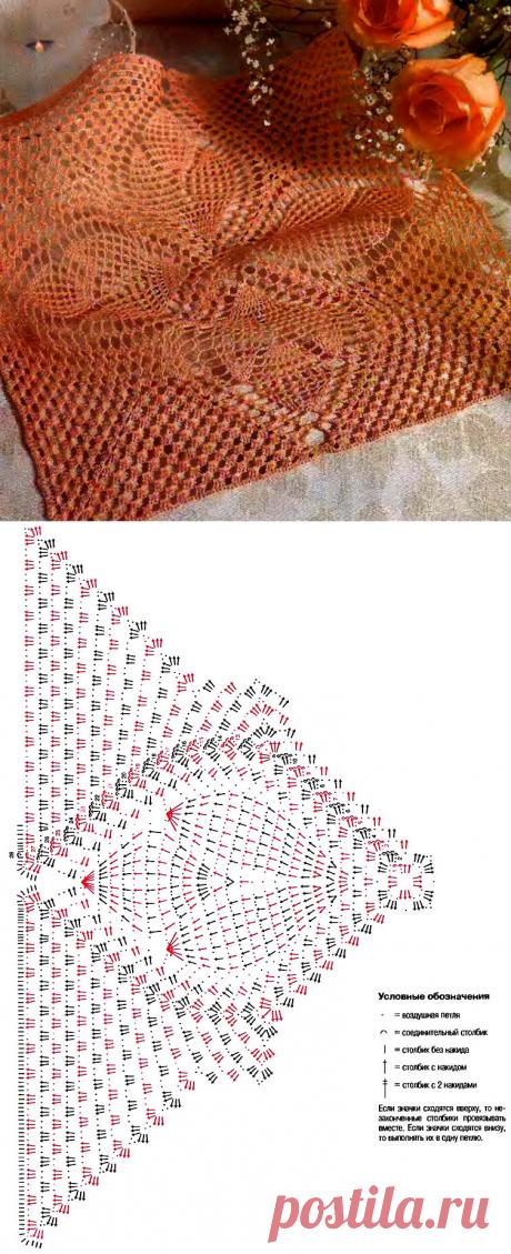 Небольшие квадратные салфетки крючком | Домашние зарисовки | Яндекс Дзен