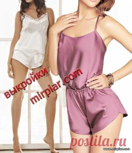 """""""MirPiar.com"""" - el portal Spravochno-informativo. Donetsk - el Catálogo de los ficheros. El pijama encantador femenino: la top camiseta, los shorts y el mono. Bajar los patrones preparados gratis."""