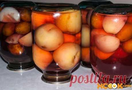 Компот из персиков на зиму - простой рецепт с фото, как приготовить Такой прохладный нежный напиток очень приятно открыть зимой и насладиться настоящим природным вкусом фруктов.