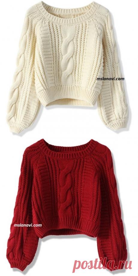 Короткие вязаные свитера | Вяжем с Лана Ви