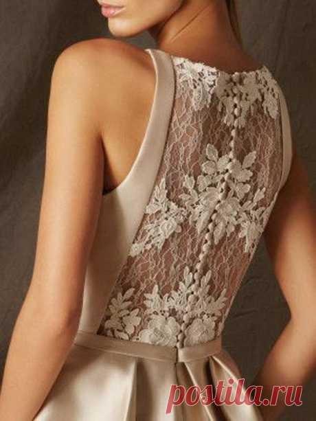Спинка платья из гипюра