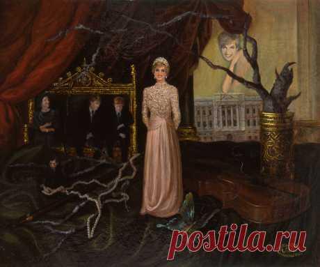 Серия картин о принцессе Диане. Раскол. холст,масло.50х60см