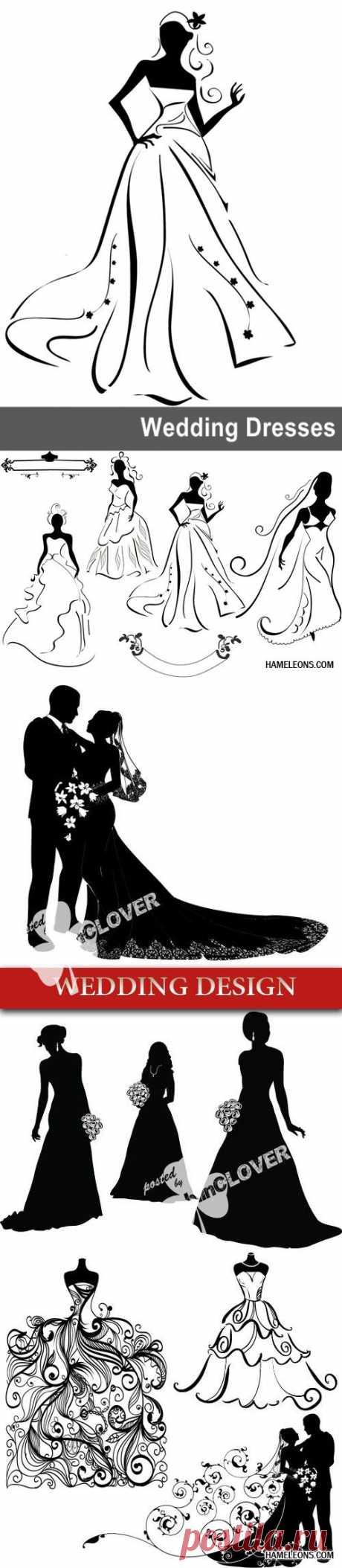 Свадебные силуэты и романтика ....Много!!.