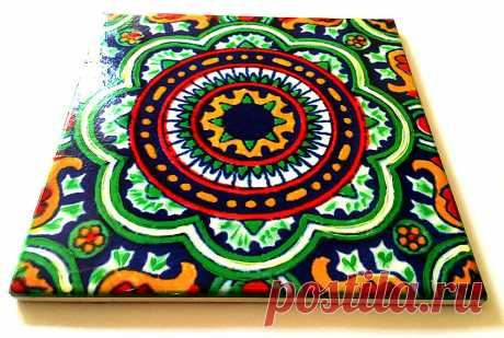 мексиканская керамическая плитка, интерьер этнический мексиканский, | мексиканская керамическая плитка | Постила