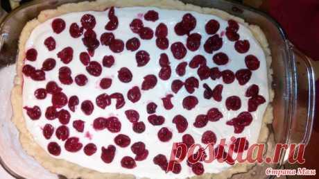 Пирог с вишней на песочном тесте с творогом и сметаной Ингредиенты для приготовления пирога с вишней на песочном тесте с творогом и сметаной  Для основы из песочного теста понадобилось: