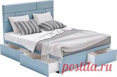 Купить кровать с выдвижными ящиками Домино в Минске | Односпальные, полуторки, двуспальные: фото и цены