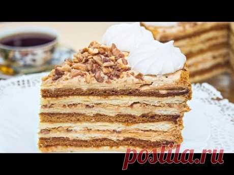Торт «Арлекин» рецепт медово-слоеного торта