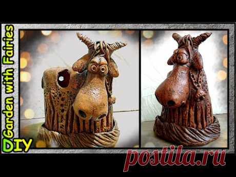 Подсвечник Бык. Имитация керамики + 7 идей от Хоровода Ремесленников - YouTube