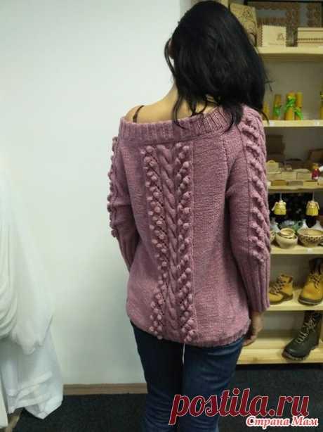 . Женственный пуловер с открытыми плечами. Два пула по одной выкройке - Вязание - Страна Мам