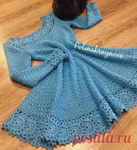 Vestido em Crochê com Gráfico - Katia Ribeiro Crochê Moda e Decoração