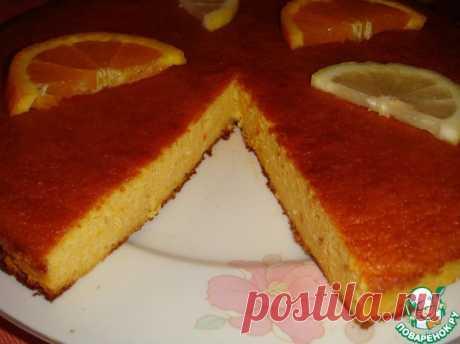 """Миндально-апельсиновый пирог на меду без муки и сахара. Невысокий, скромный на вид, я бы сказала, """"интеллигентный"""" сочный пирог с интересным сочетанием вкусов апельсина, миндаля, меда и ванилина. Это такое наслаждение - попить чайку с кусочком ароматной вкуснятины! Автор: Ирушенька"""