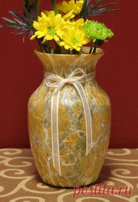 Декупаж вазы - пошаговые мастер-классы декора стеклянной и керамической вазы (120 фото идей)