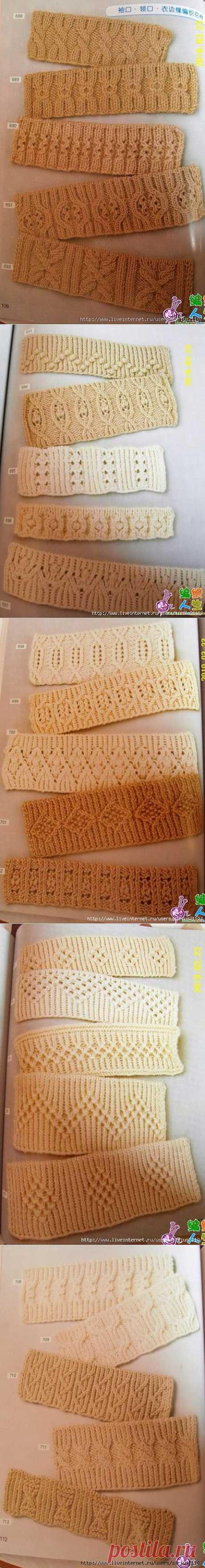 Вязание резинки спицами.