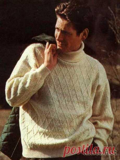 Пуловер с ромбами для мужчины