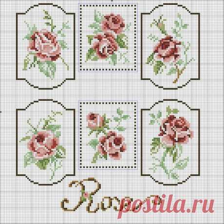 Схемы роз для вышивки крестиком бисером