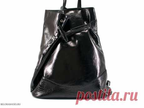 Сумка женская Рюкзак, черный Вместительная женская сумка из натуральной кожи