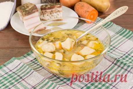 Суп с ветчиной и клецками — ХОЗЯЮШКА
