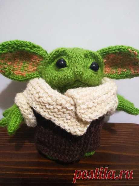 Малыш Йода - герой звездных войн Вязаные игрушки - подарок любимым