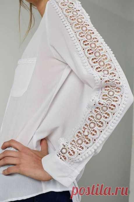 Элегантные идеи украшения одежды кружевом