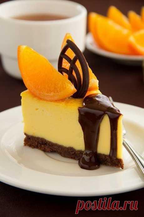 Апельсиновый чизкейк.