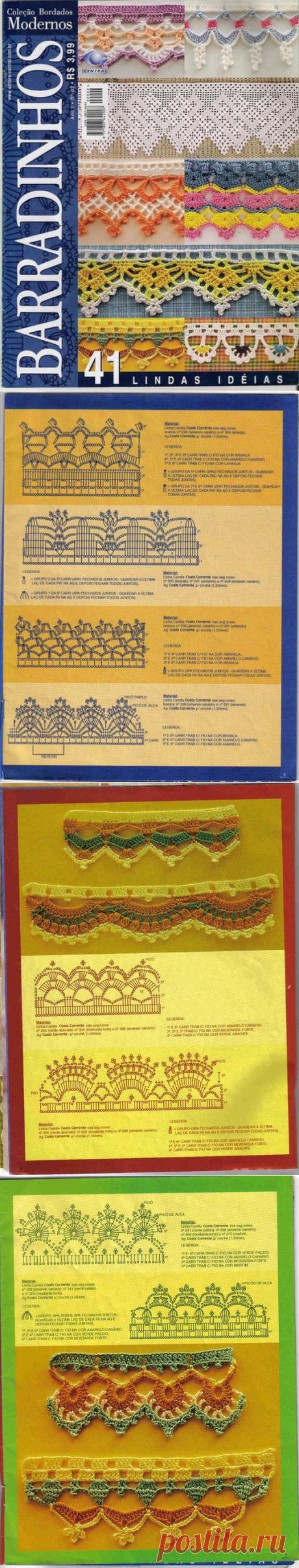 The Bordados Modernos magazine - knitting of a border