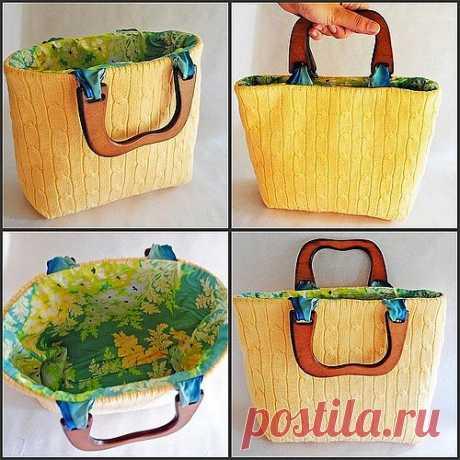 Шьем сумку из свитера / Шитье / PassionForum - мастер-классы по рукоделию