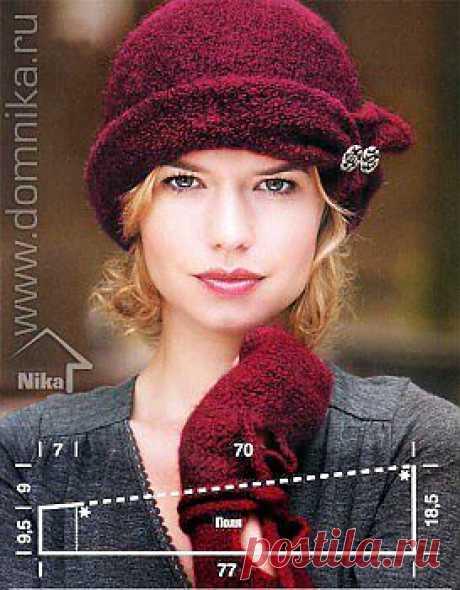 вязаная шляпка » Вязание крючком и спицами схемы и модели
