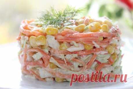 Салат с крабовыми палочками и капустой - 15 простых и вкусных рецептов
