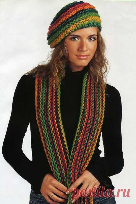 Полосатый шарф| Шали, палантины и шарфы