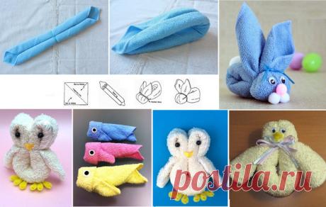 Как красиво складывать полотенца: 10 оригинальных идей
